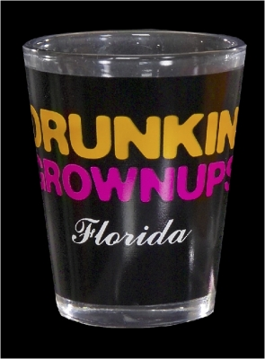 "Funny Shot Glass  ""Drunkin' Grownups"" (Custom Imprint Available)"