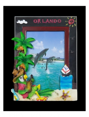 "Resin & Glass Photo Frame 6 x 4"" Parrot (Orlando Only)"
