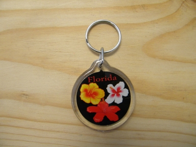 Acrylic Key Chain - Hibiscus (Florida Only)