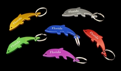 Aluminum Bottle Opener Key Chain - Dolphin