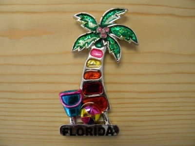 Plated Resin Magnet - Palm Tree (Florida Only)