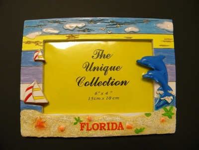 Dolphin Aged Wood Effect Photo Frame 4 x 6""