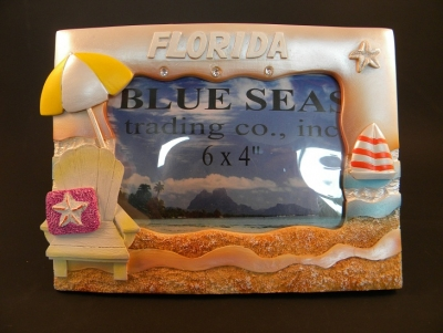 Beach Chair Photo Frame Pearled Effect 4 x 6""