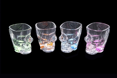 Skull Shot Glass - 4 Assorted Colors.