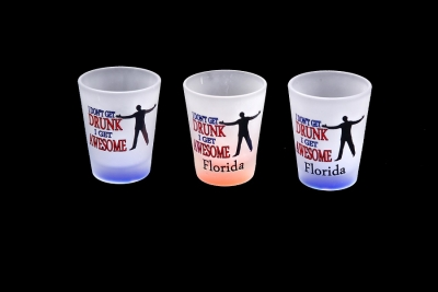 1157 - Frosted Neon Funny Shot Glass (Two Assorted Colors)