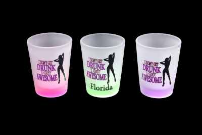 1158 - Frosted Neon Funny Shot Glass (Four Assorted Colors)