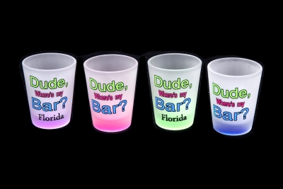 1160 - Frosted Neon Funny Shot Glass (Four Assorted Colors)