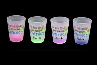 1162 - Frosted Neon Funny Shot Glass (Four Assorted Colors)