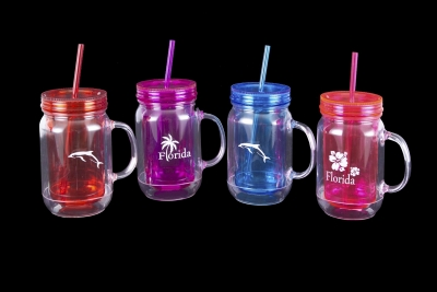 Mason Jar Double Wall Tumbler 16 oz.