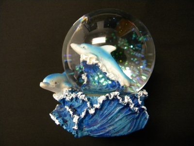 Water Globe 80 mm - Dolphin Design