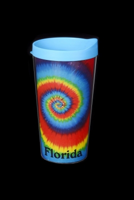 Travel Cup Double Wall Insulated - Tie Dye Design