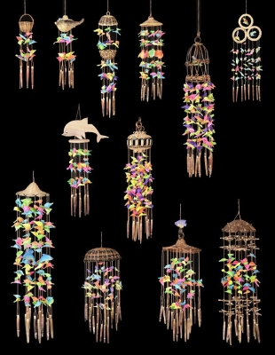 Small Sea Shell Wind Chime 12 Pc. Assortment