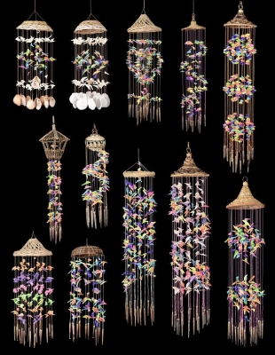 Large Sea Shell Wind Chime 12 Pc. Assortment