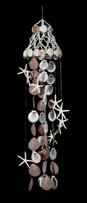 C-197 - Shell Chandelier with Sun & Moon and Canarium Shells