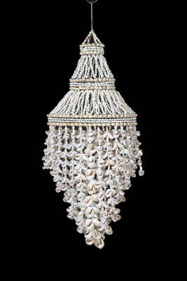 C-198 - Shell Chandelier with Moon Shells.