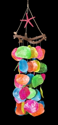 C-200 - Placuna Chime, Vine Top w/ Starfish - Multi Color