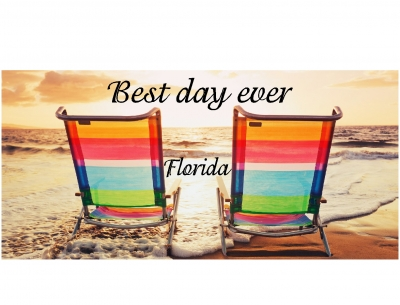 1582 - Beach Towel, Beach Chair Best Day Ever Design