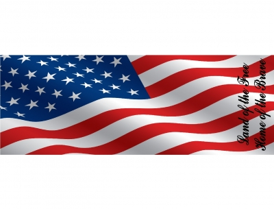 1584 - Beach Towel American Flag Design