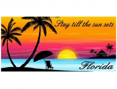 1585 - Beach Towel Stay Till The Sun Sets Design