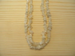 N-8269 - Stone Chip Necklace - White Moon Quartz