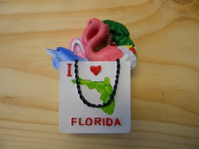 I Love Florida Shopping Bag Magnet