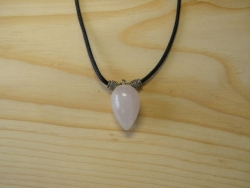 N-8298 - Rose Quartz Pendant Necklace -