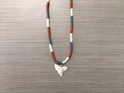 SN-8169   Braided Shark Tooth Necklace