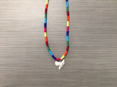 SN-8170   Braided Shark Tooth Necklace
