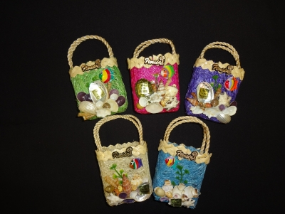 3166 - Raffia Bag Magnet - Assorted Colors