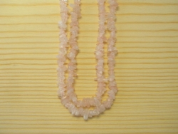 N-8270 - Stone Chip Necklace - Rose Quartz