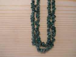 N-8273 - Stone Chip Necklace - Green Aventurine