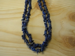 N-8274 - Stone Chip Necklace - Blue Lapis