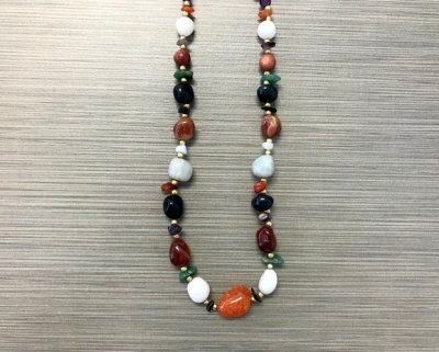 N-8248 - Multicolor Agate Fashion Necklace