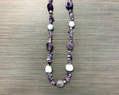 N-8252 - Multicolor Agate Fashion Necklace