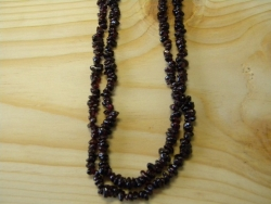 N-8275 - Stone Chip Necklace - Garnet