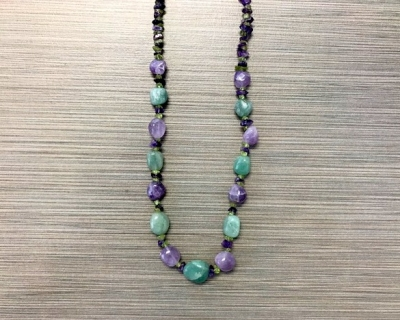N-8250 - Multicolor Agate Fashion Necklace