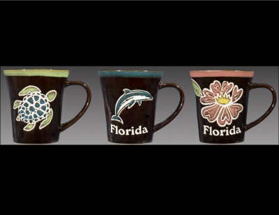 1588 - Ceramic Black Mug with Assorted Designs