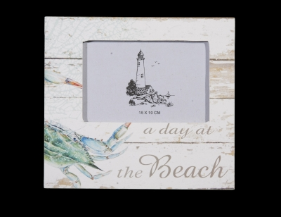 "1685 - Crab ""Day at the Beach"" Photo Frame"
