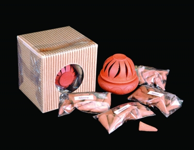 Incense Burner (Includes four packs of incense cones)