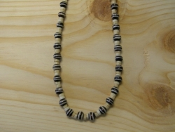 N-8370 - Bone and Wood Bead Fashion Necklace