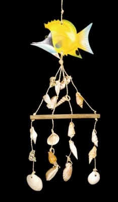 Yellow Fish Shell Chime