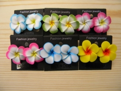 ER-8601 - Fimo Flower Earrings (Assorted Colors)