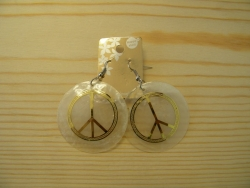 ER-8606 - Capiz Peace Earrings