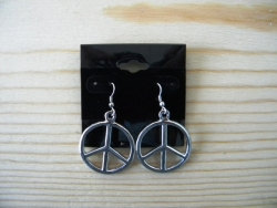 ER-8600 - Metal Peace Earrings