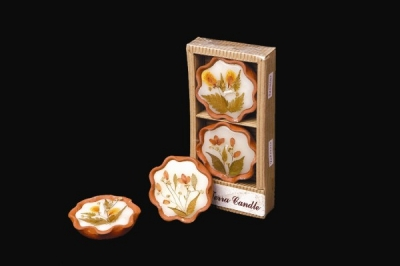 Terra Candles with Dried Flowers (Set of 2)