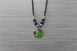 N-8459 - Mood Fashion Necklace - Moon & Star