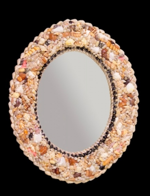 Mix Shell Oval Mirror