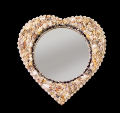 Mix Shell Heart Mirror