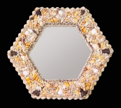 Mix Shell Hexagon Mirror